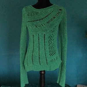 TWO beautiful Anthropology cotton sweaters- xs/s